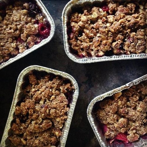Bug Foods - Apple Persimmon Cranberry Cobbler